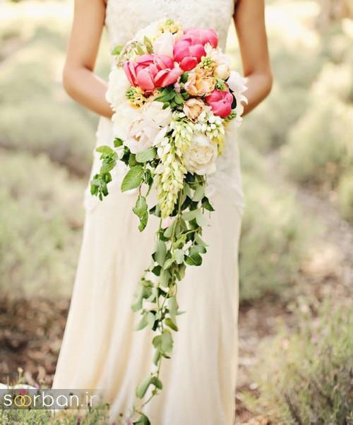 دسته گل عروس آبشاری زیبا و جدید10