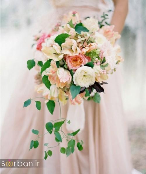 دسته گل عروس آبشاری زیبا و جدید11