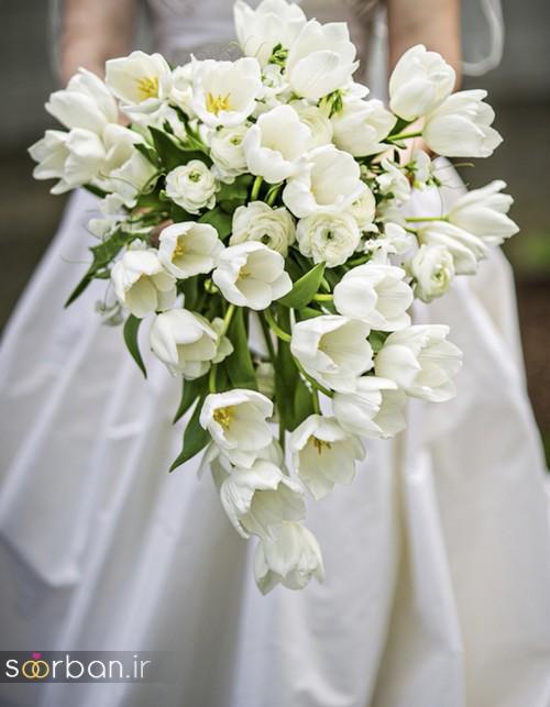 دسته گل عروس آبشاری زیبا و جدید12