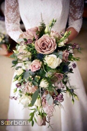 دسته گل عروس آبشاری زیبا و جدید15