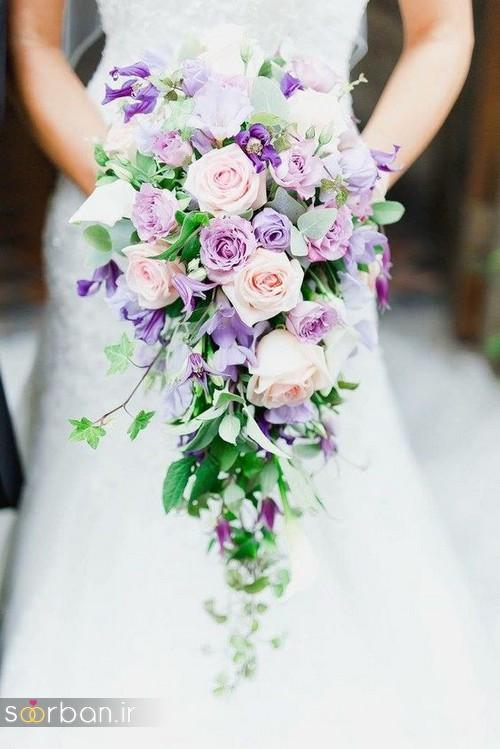 دسته گل عروس آبشاری زیبا و جدید17