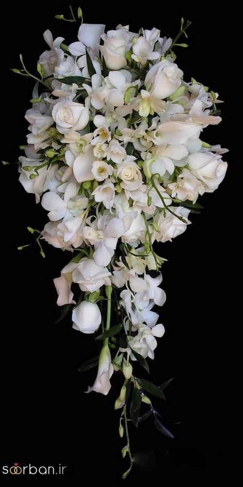 دسته گل عروس آبشاری زیبا و جدید18