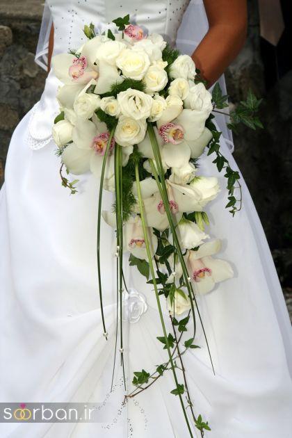 دسته گل عروس آبشاری زیبا و جدید0
