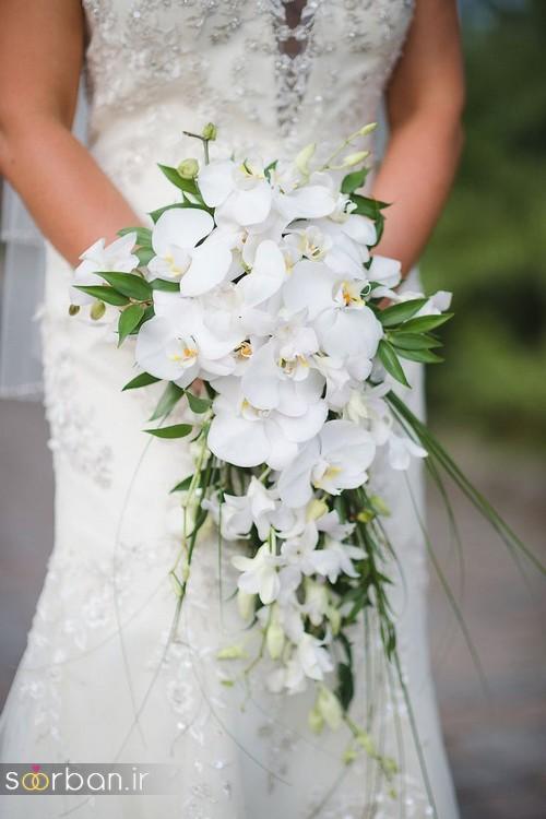 دسته گل عروس آبشاری زیبا و جدید21