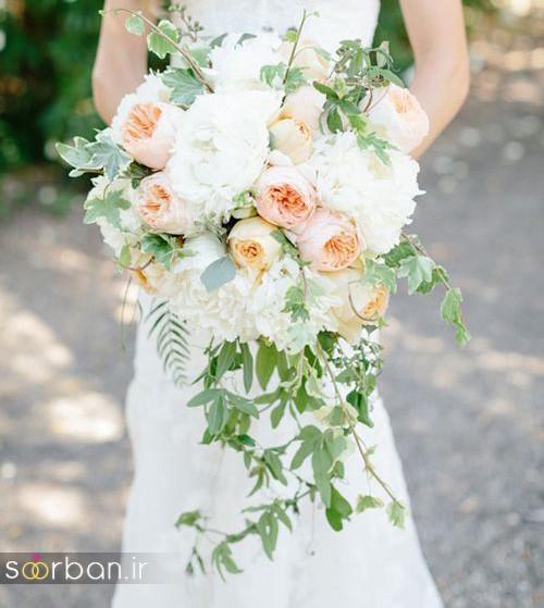 دسته گل عروس آبشاری زیبا و جدید22