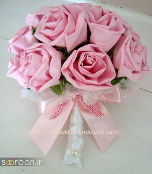 دسته گل عروس با روبان15