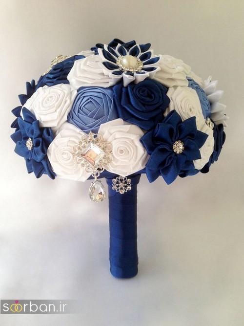 دسته گل عروس با روبان712