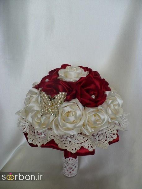 دسته گل عروس با روبان 26