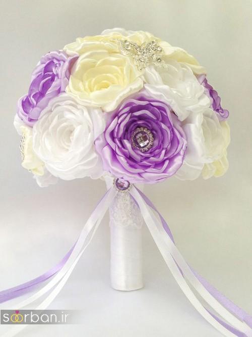 دسته گل عروس با روبان 27