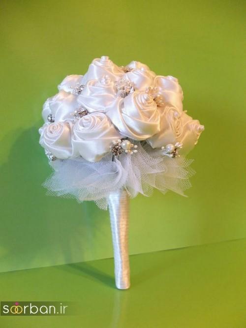 دسته گل عروس با روبان 28