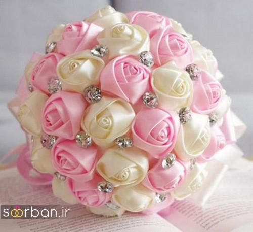 دسته گل عروس با روبان 31