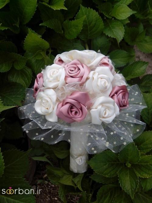 دسته گل عروس با روبان 32