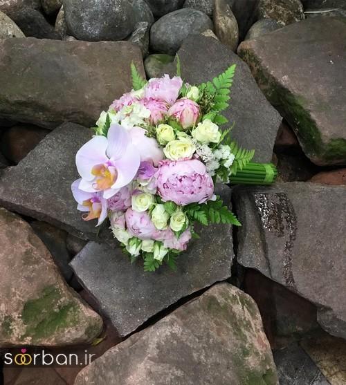 دسته گل عروس جدید ایرانی 98 بنفش