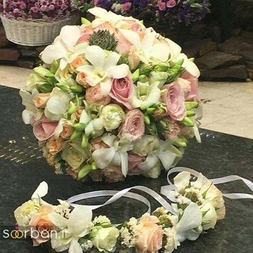 عکس مدل دسته گل عروس جدید ایرانی 98