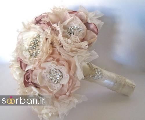 دسته گل عروس با مروارید5