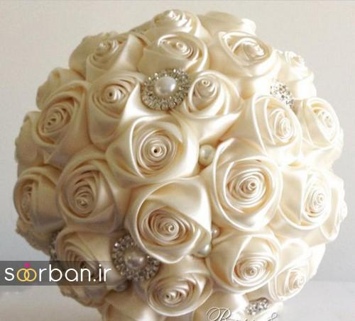 دسته گل عروس با مروارید9