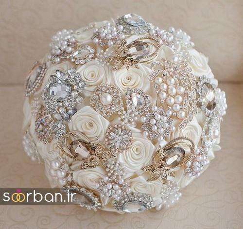دسته گل عروس با مروارید20