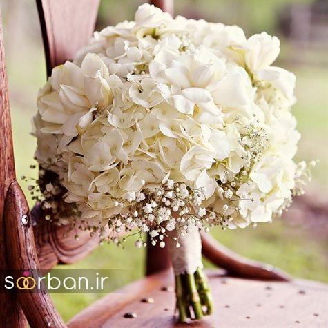 دسته گل عروس بهاری رومانتیک 14