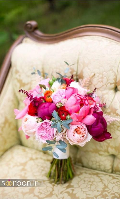 دسته گل عروس بهاری رومانتیک 3