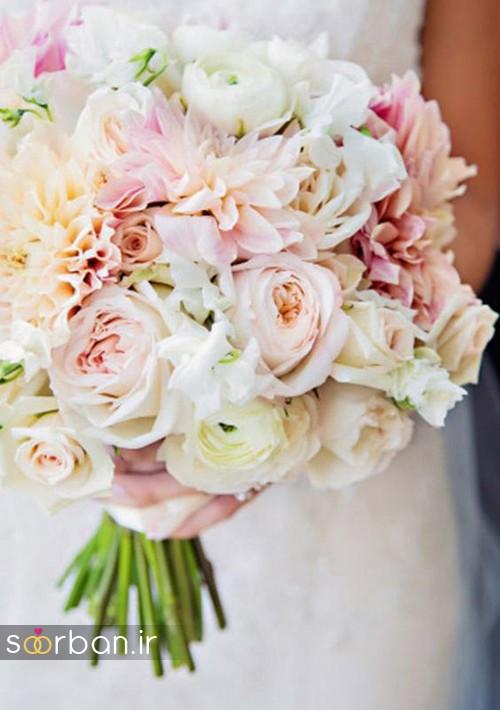 دسته گل عروس بهاری رومانتیک 5
