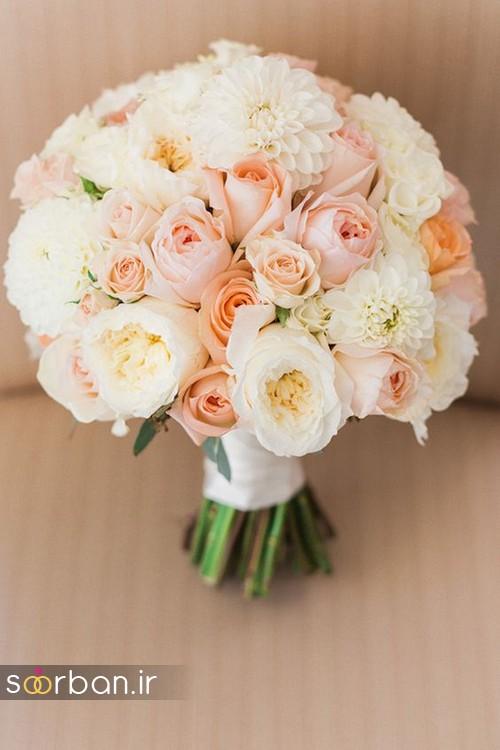 دسته گل عروس بهاری رومانتیک 6