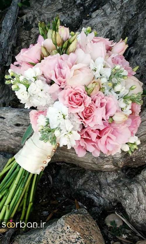 دسته گل عروس بهاری رومانتیک 8