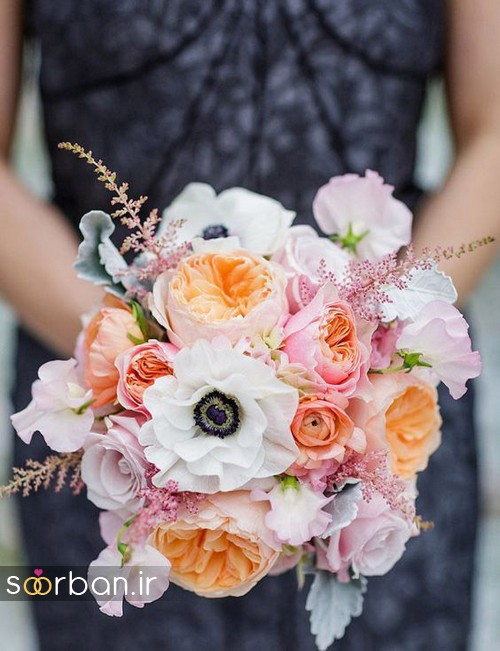 دسته گل عروس بهاری رومانتیک 9