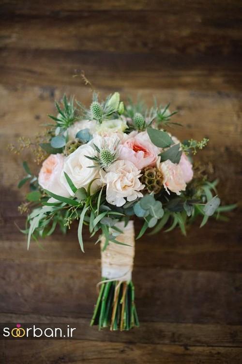 دسته گل عروس بهاری رومانتیک 12