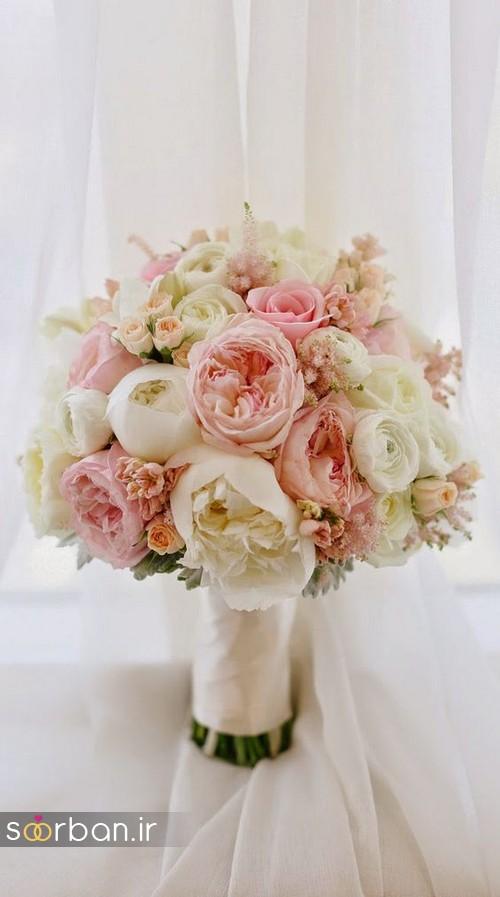 دسته گل عروس بهاری رومانتیک 1