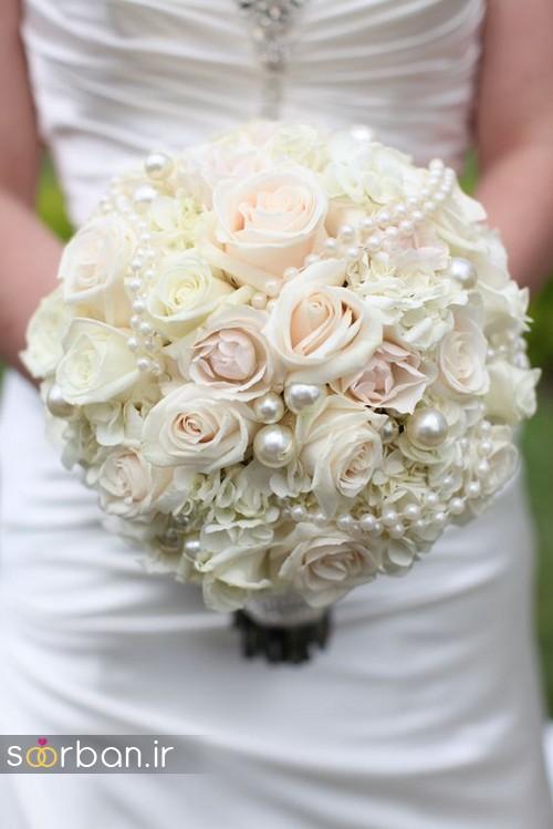 دسته گل عروس بهاری رومانتیک 16