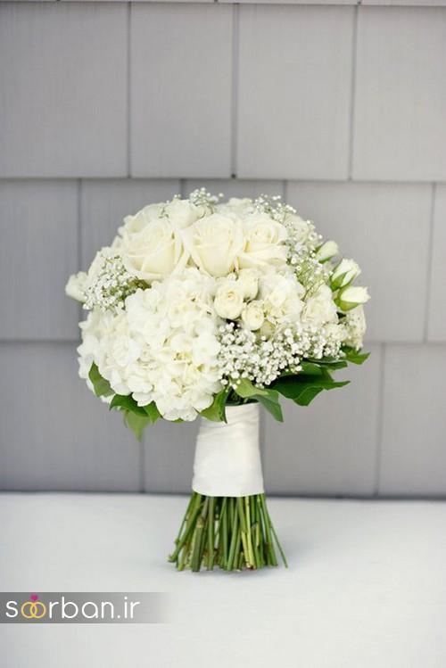 دسته گل عروس بهاری رومانتیک 19