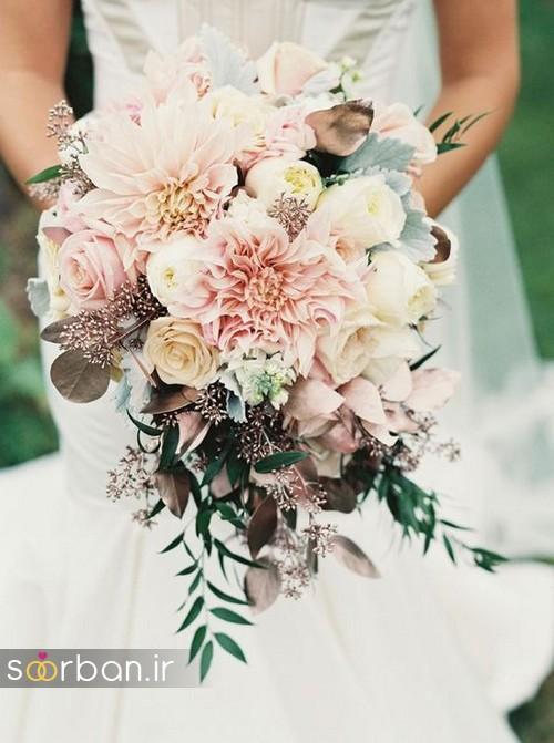 دسته گل عروس بهاری رومانتیک 18