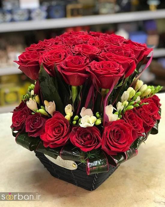مدل دسته گل رز قرمز جدید-1