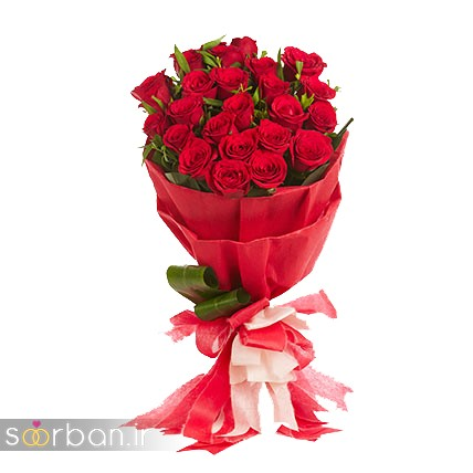 مدل دسته گل رز قرمز جدید-6