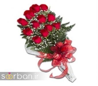 مدل دسته گل رز قرمز جدید-8