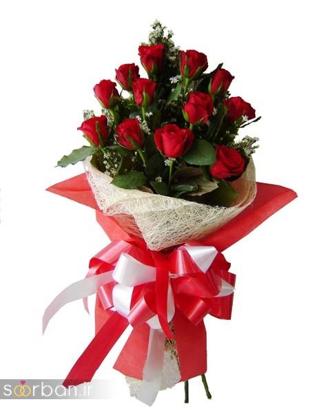 مدل دسته گل رز قرمز جدید-9