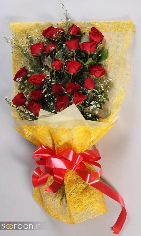 مدل دسته گل رز قرمز جدید-10