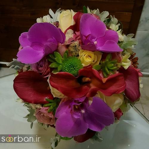 دسته گل عروس و نامزدی زیبا 99 و 2020-16