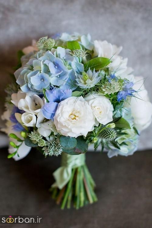 دسته گل عروس آبی 1