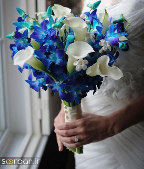 دسته گل عروس آبی 14
