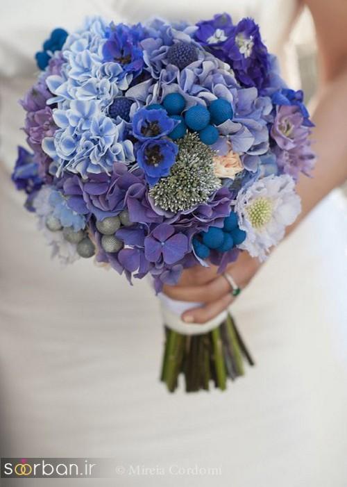 دسته گل عروس آبی 6