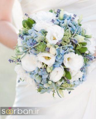 دسته گل عروس آبی 2