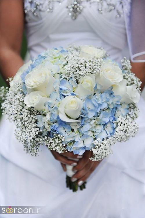 دسته گل عروس آبی 3