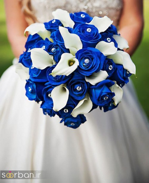 دسته گل عروس آبی 8
