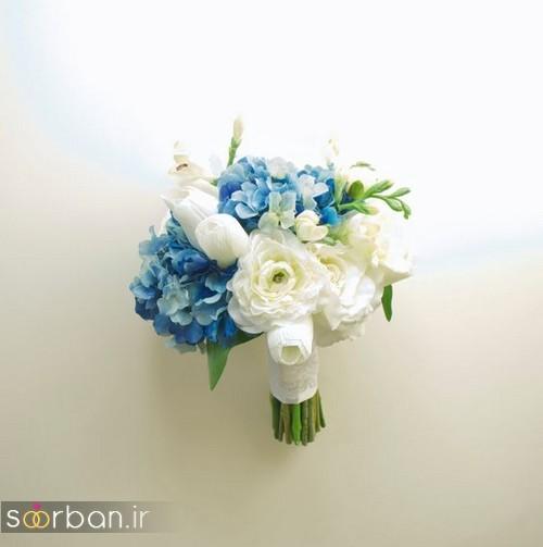 دسته گل عروس آبی 9