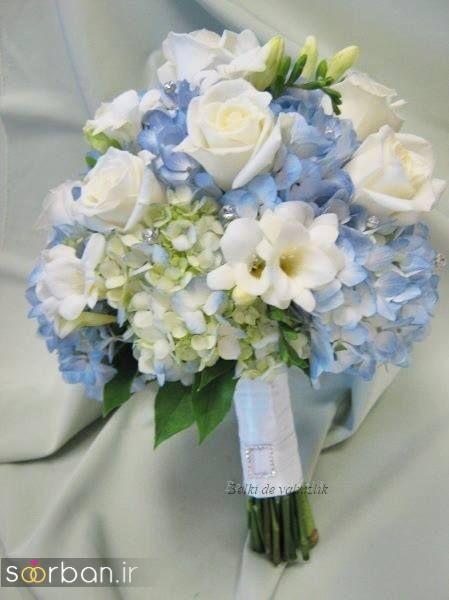 دسته گل عروس آبی 10