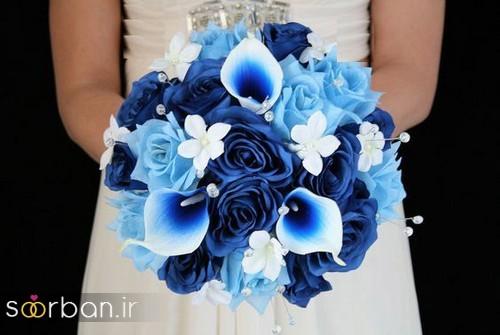 دسته گل عروس آبی 11