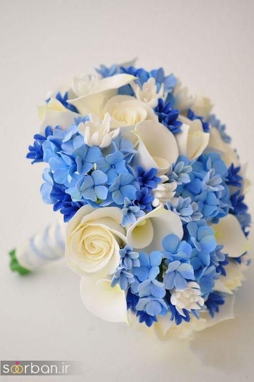 دسته گل عروس آبی 12