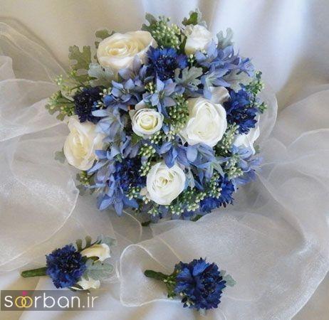 دسته گل عروس آبی712