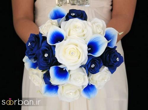 دسته گل عروس آبی 19